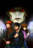Harry Potter: The Golden Trio by GoldenMuseX
