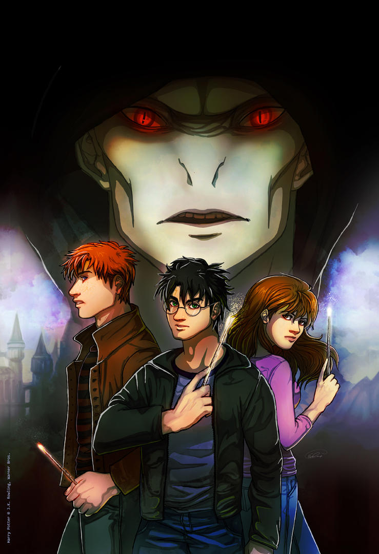 Harry Potter: The Golden Trio by GoldenMuseX on DeviantArt