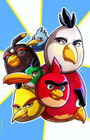 Angry Birds by GoldenMuseX