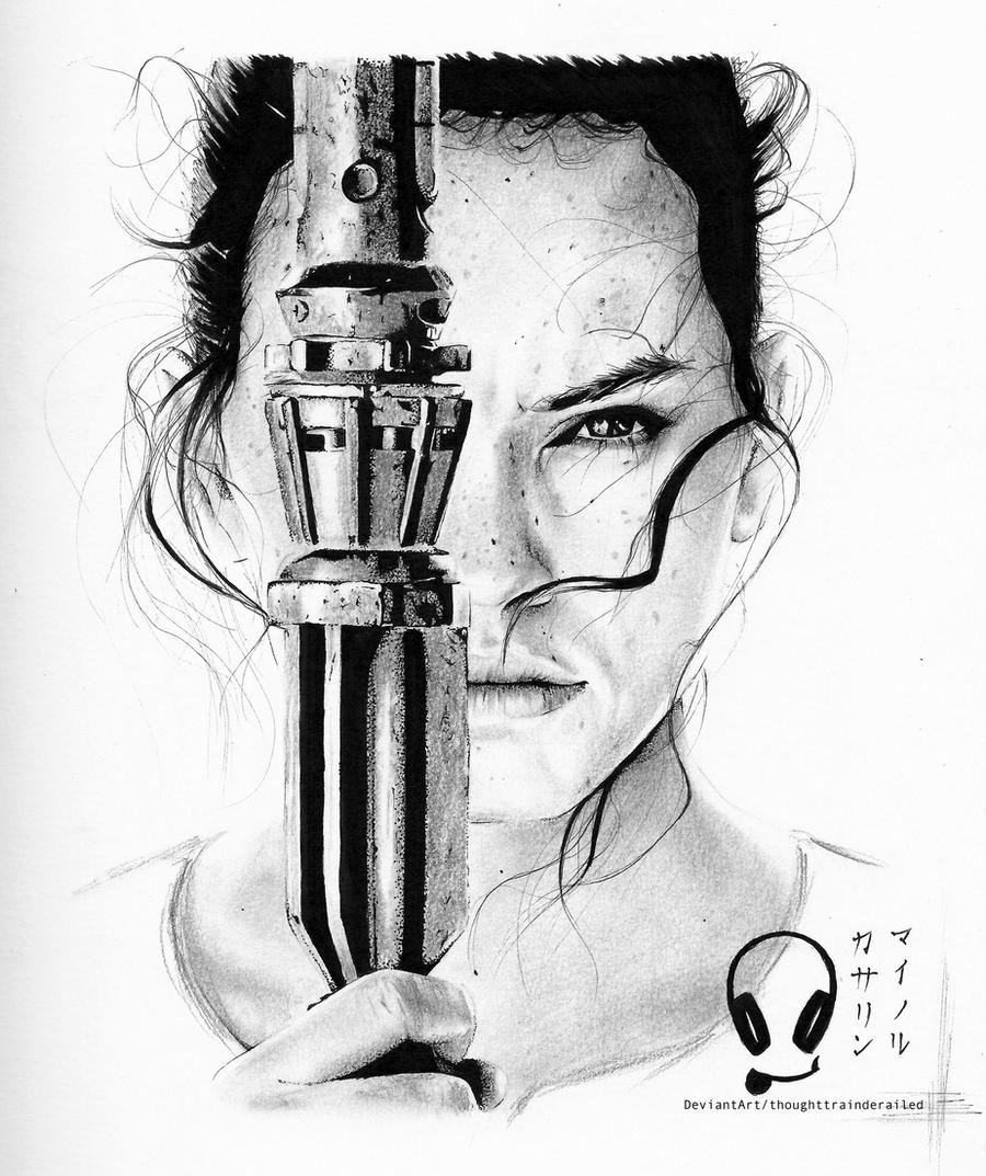 Rey by thoughttrainderailed