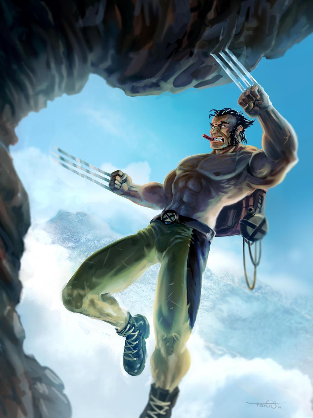 Wolverine-cliffhanger by Tregis