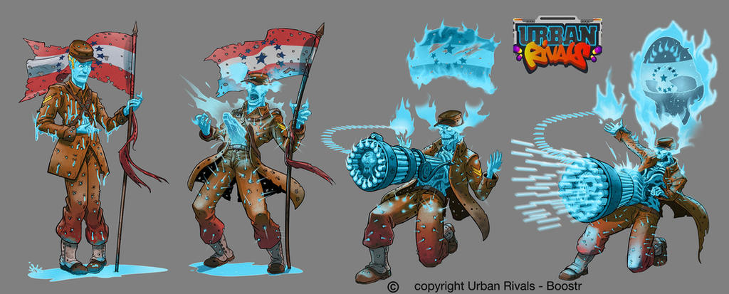 Ford from clan Ghostown for TCG Urban Rivals by Tregis