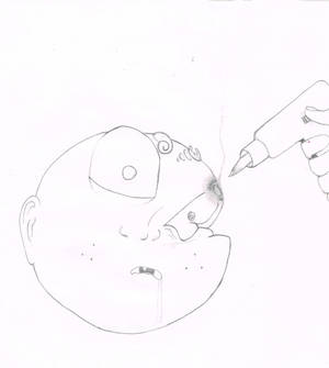 garbage pail kid wannabe -- sketch