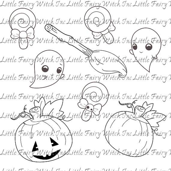 Halloween Digital Stamps by sicara-deviant