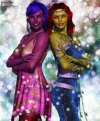 Portrait of Two Friends - Gift Art