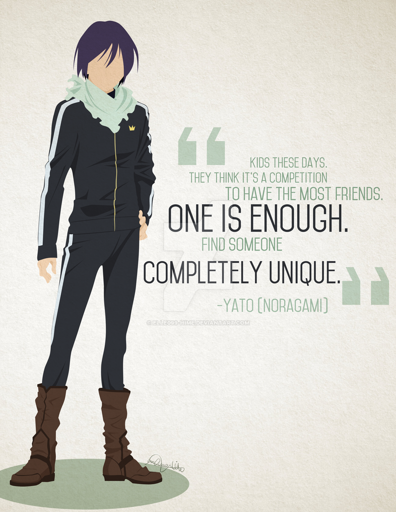 Anime Quotes About Friendship Noragami Yatoelle099Hime On Deviantart