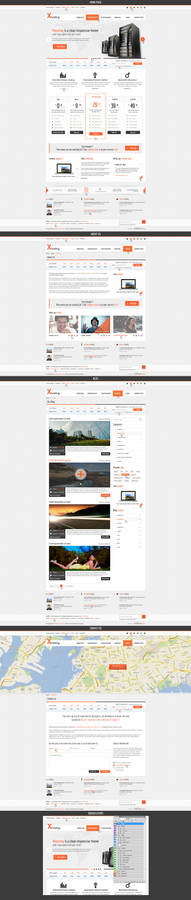 Xhosting Multiple Pages Theme Preview