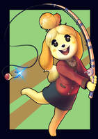 Isabelle - Animal Crossing New Leaf by Chaos-Artixal