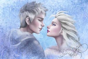 WIP - Jack and Elsa by Eeddey
