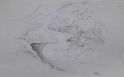 Between Clouds by PrinceAbyss
