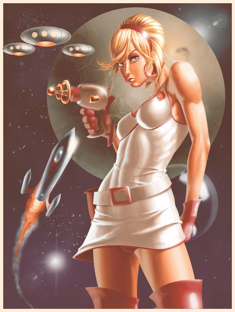 Space Girls of the Cosmos by superhawkins