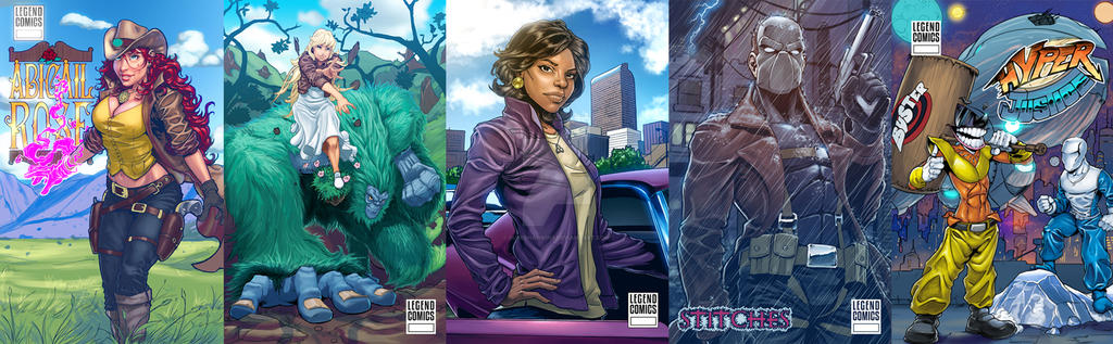 Comic Cover Samples by superhawkins