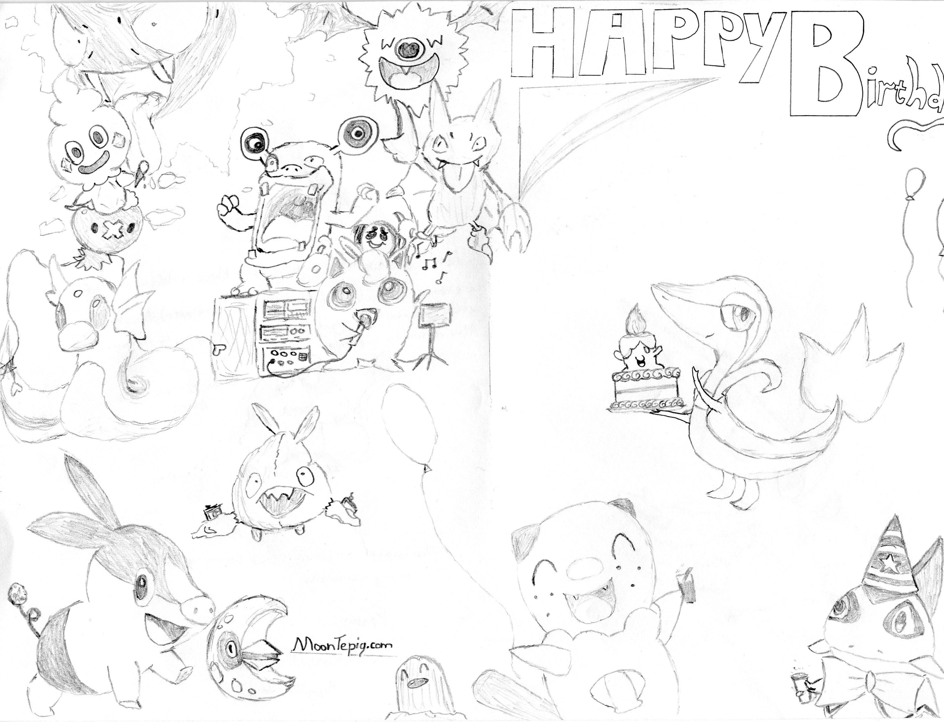 A Pokemon Happy Birthday by Ronip on DeviantArt – Printable Pokemon Birthday Cards