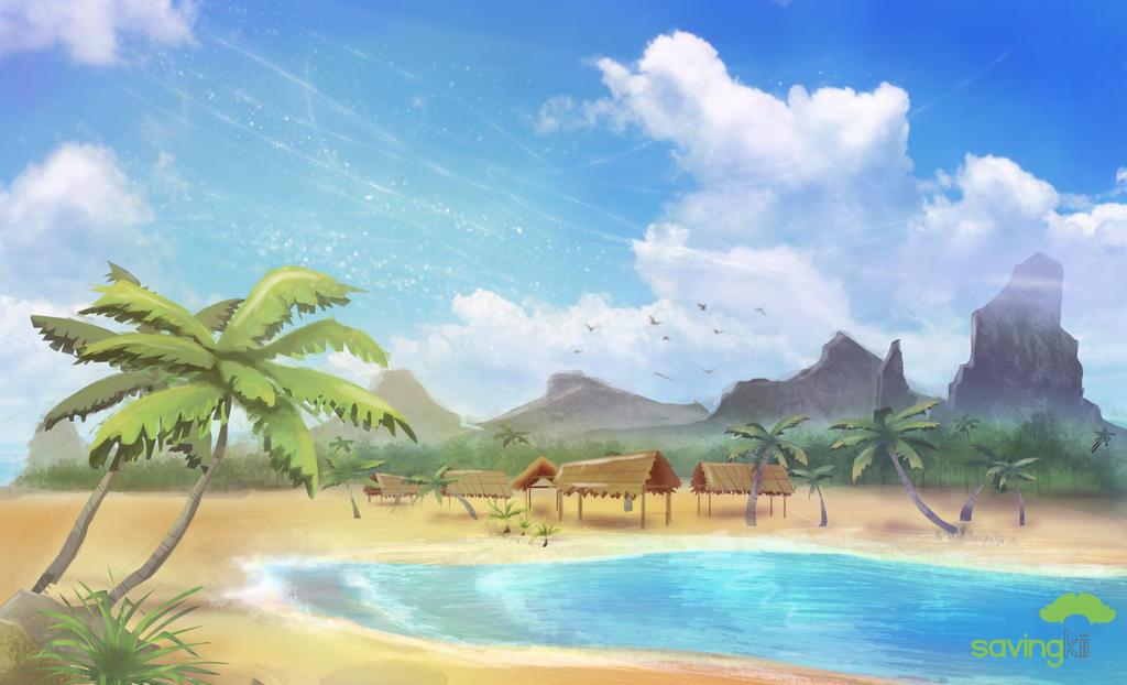 Tropical island by Savingkii