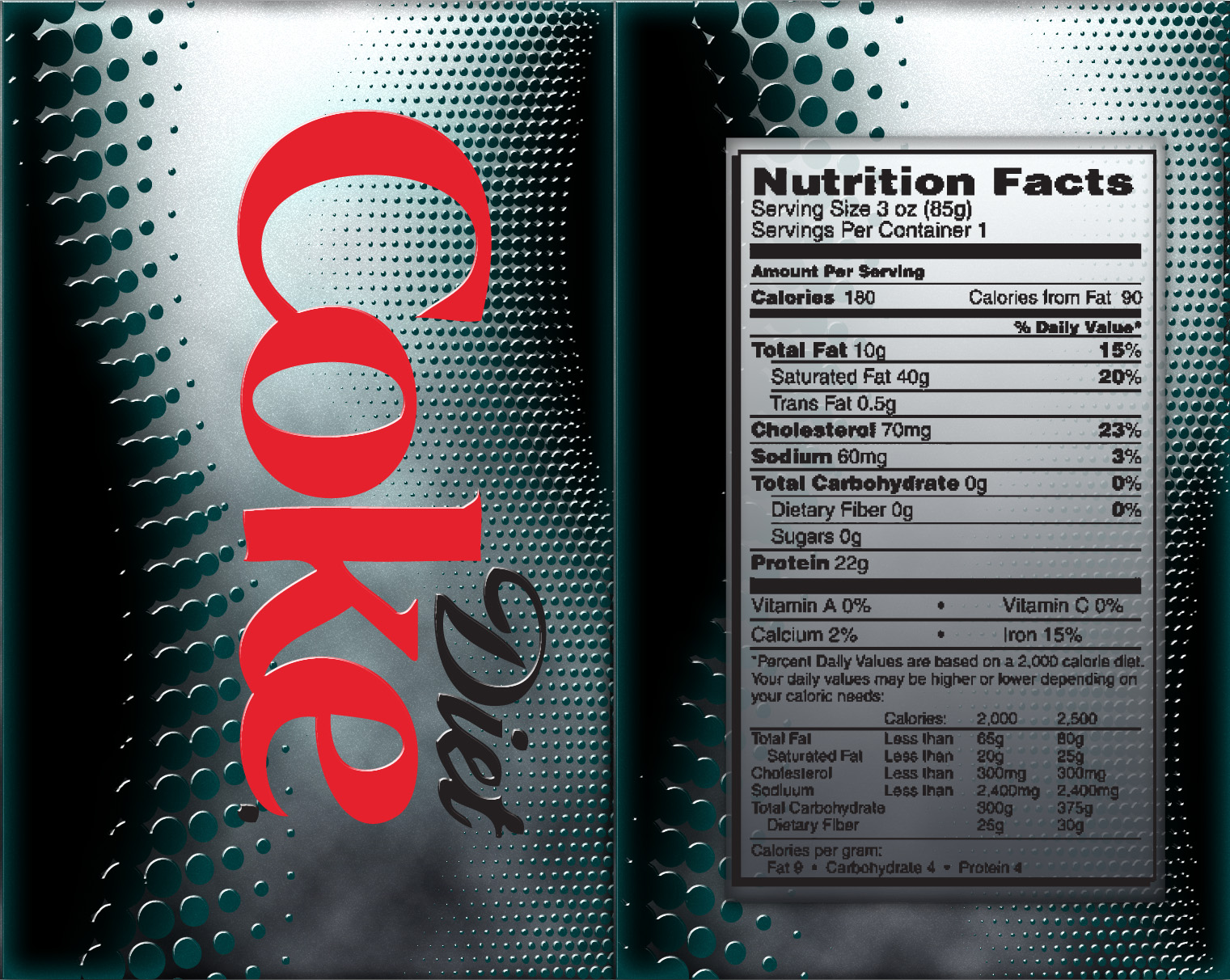 Diet Coke Concept Label by scappelle1 on DeviantArt