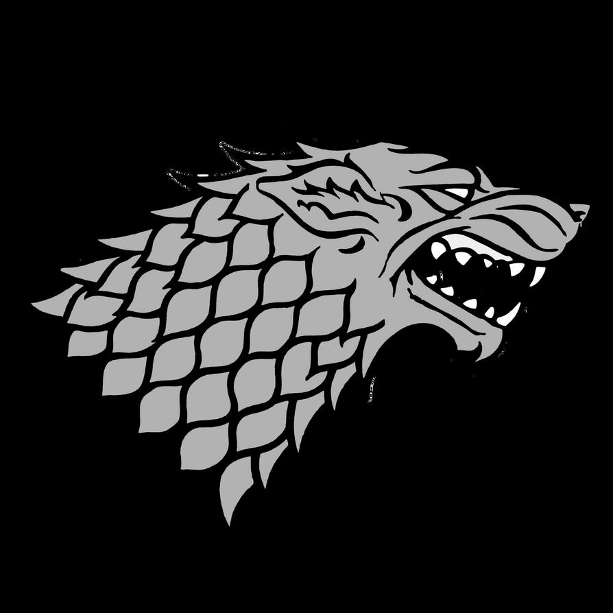 Stark House Wolf - Game Of Thrones by KomankK on DeviantArt