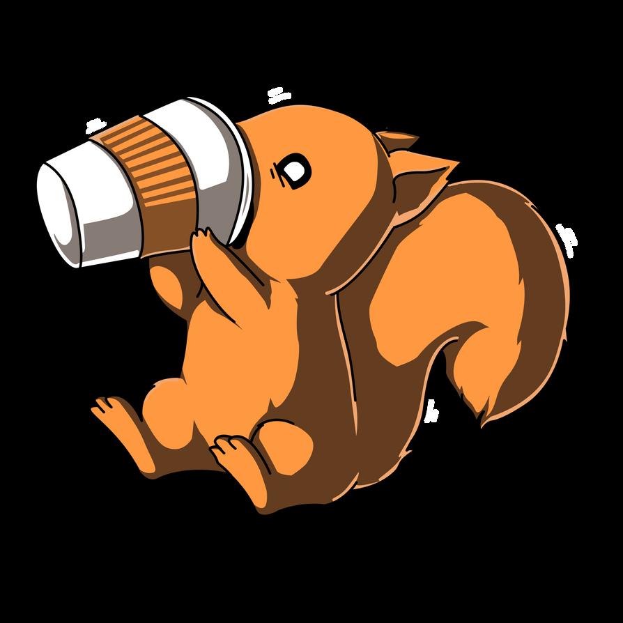 Need More Coffee Squirrel by KomankK on DeviantArt