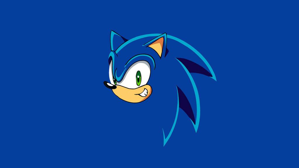 Sonic The Hedgehog Minimalistic Wallpaper NO LOGO by KomankK