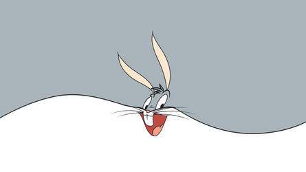 Bugs Bunny Minimalistic Wallpaper NO LOGO by KomankK