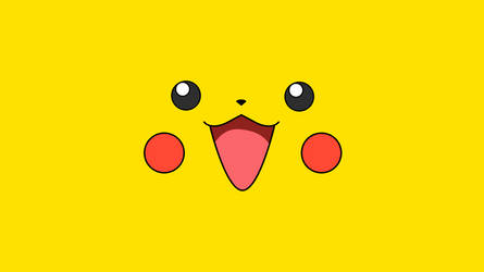 Pikachu - Pokemon Minimalistic Wallpaper NO LOGO by KomankK