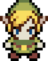 Link - The legend of Zelda Pixel by KomankK