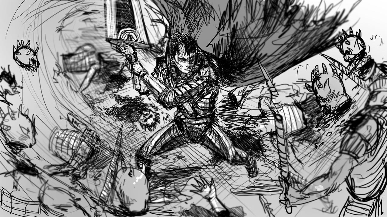 Berserk sketch by Sciamano240