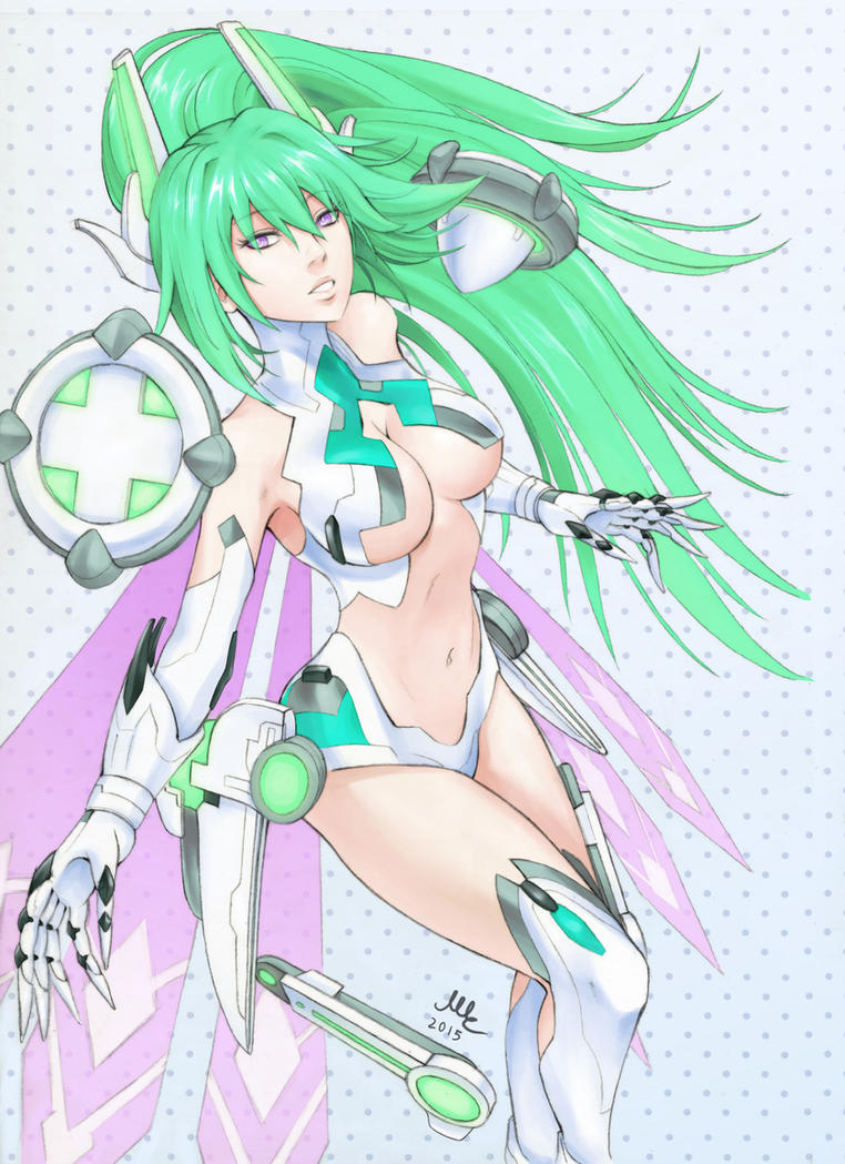 Green Heart - Hyperdimension Neptunia by Sciamano240