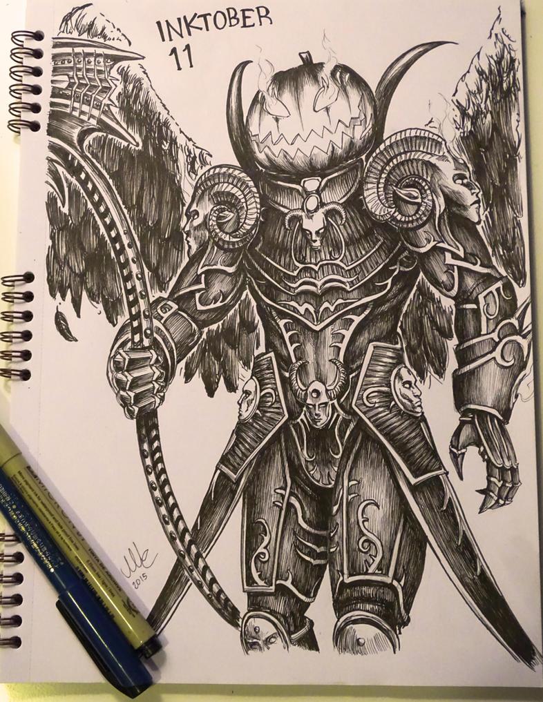Jack the Reaper - Inktober 11 by Sciamano240
