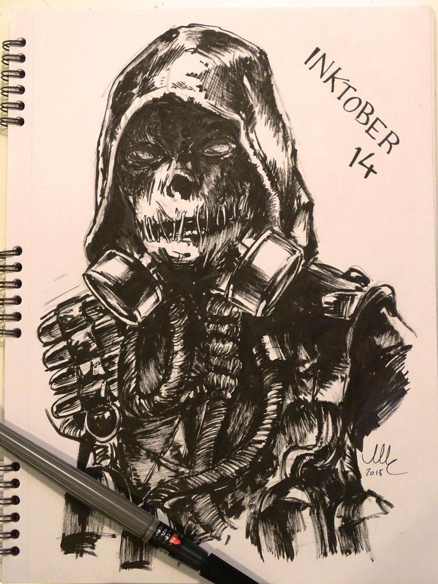 Scarecrow - Inktober 14 by Sciamano240
