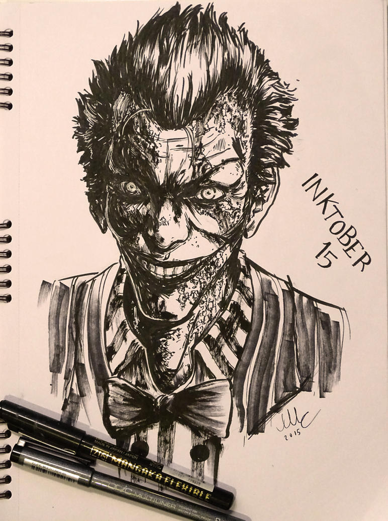 The Joker - Inktober 15 by Sciamano240