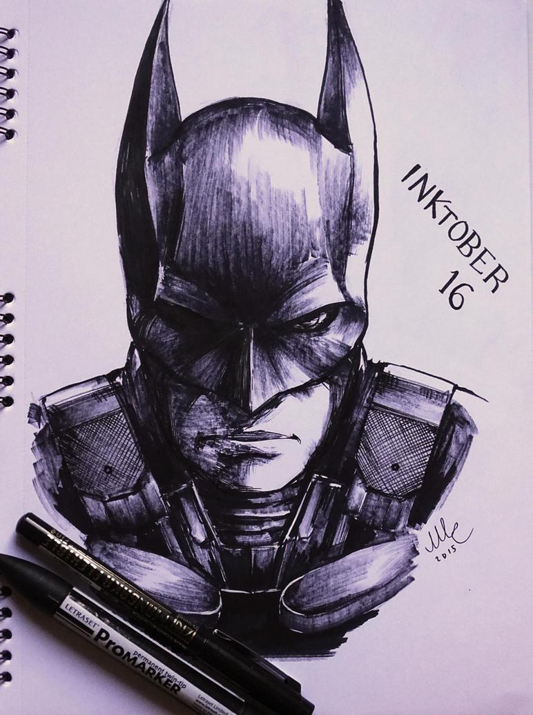 Batman - Inktober 16 by Sciamano240