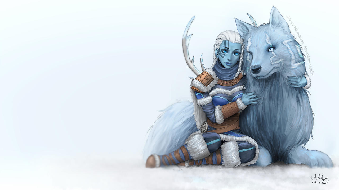 Skadi (background version) - Smite by Sciamano240