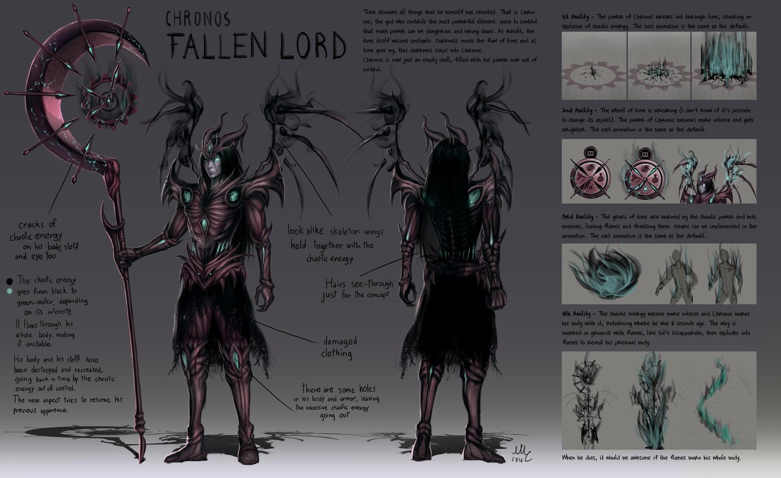 Fallen Lord (Chronos demonic skin) - Smite by Sciamano240