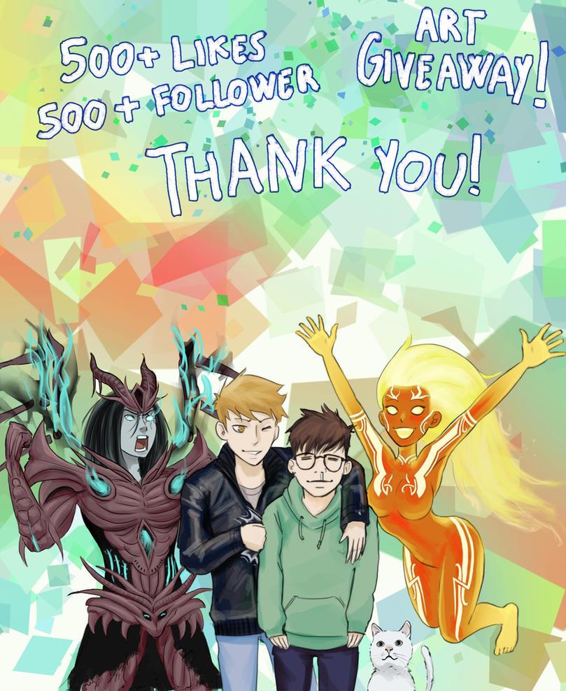 500 like giveaway ideas