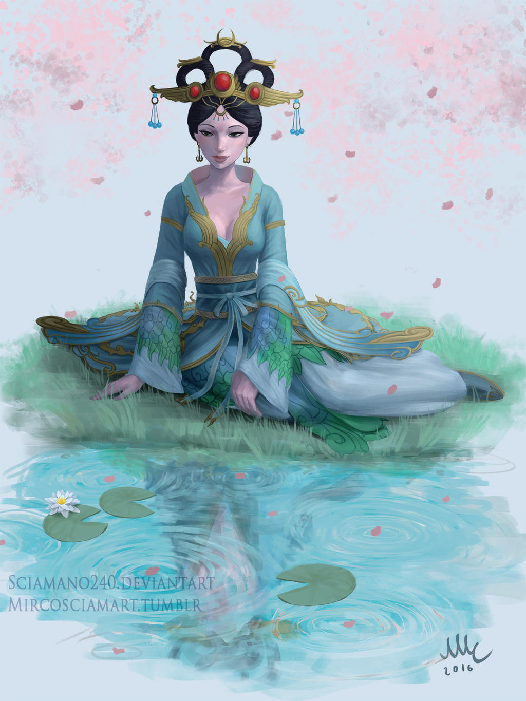 Chang'e - Smite (giveaway) by Sciamano240