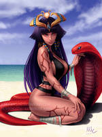 Monster Girl Encyclopedia - Pharaoh by Sciamano240