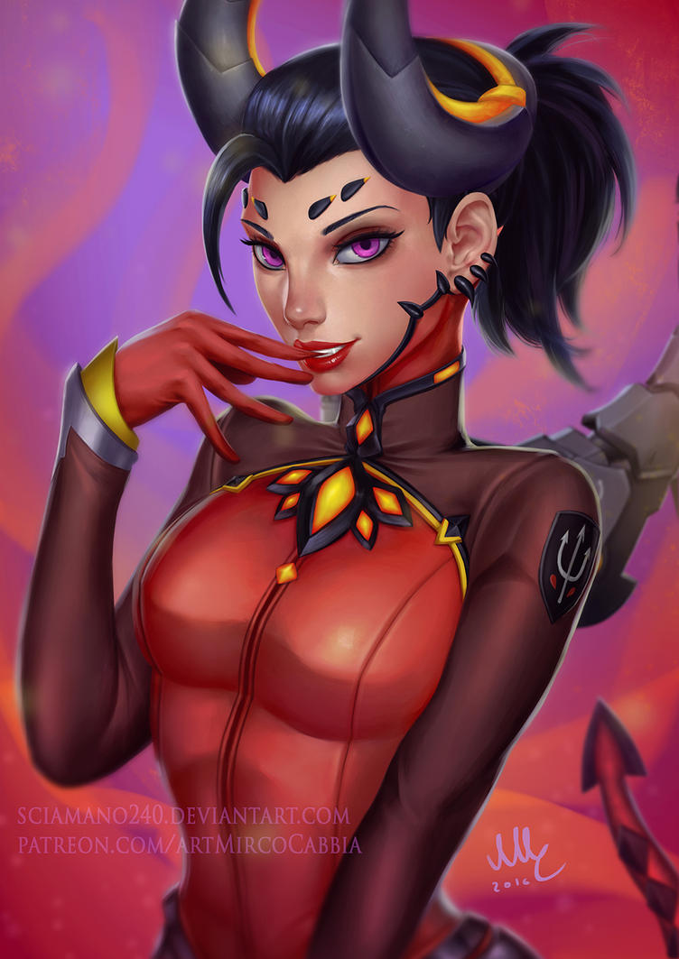 Mercy devil - Overwatch (Patreon reward) by Sciamano240