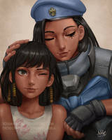 Fareeha and Ana Amari - Overwatch