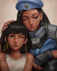 Fareeha and Ana Amari - Overwatch by Sciamano240