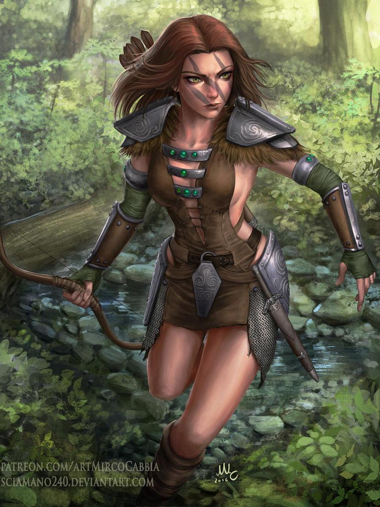 Aela the Huntress - Skyrim by Sciamano240