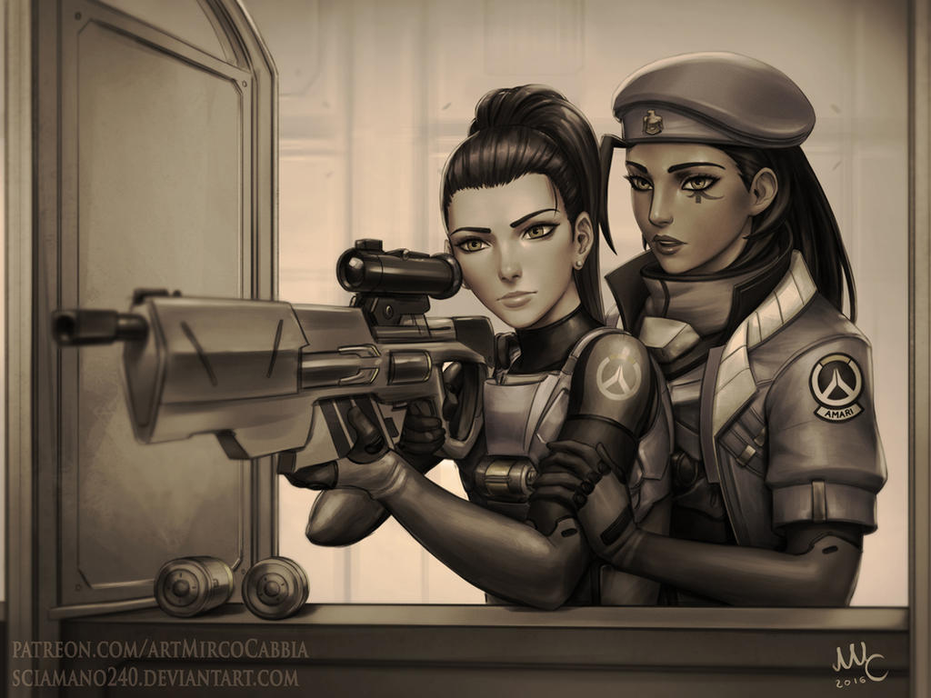 Ana and Amelie - Overwatch (Commission) by Sciamano240