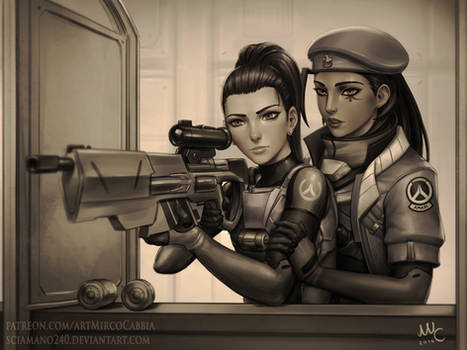 Ana and Amelie - Overwatch (Commission)