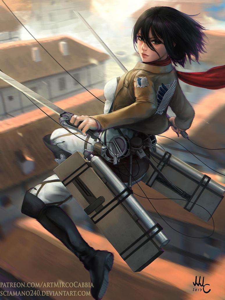 Mikasa - Shingeki no Kyojin by Sciamano240