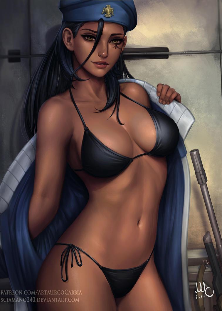 Cpt. Ana Amari - Overwatch (bikini version) by Sciamano240
