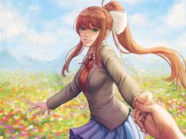 Monika - Doki Doki Literature Club! by Sciamano240