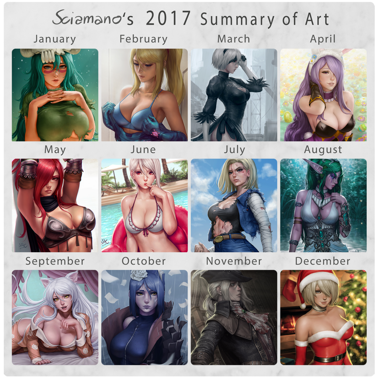 Sciamano's 2017 Summary of Art by Sciamano240