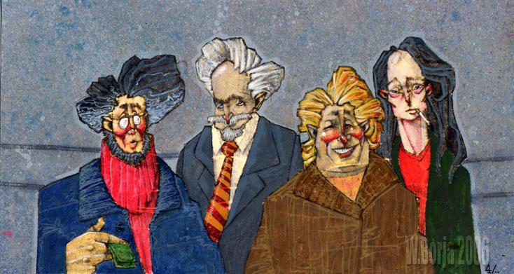 four guys portrait by ochomanos