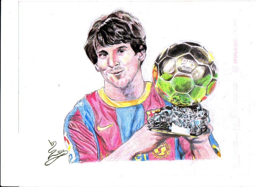 Messi y Balon de Oro by Zefirohh on DeviantArt