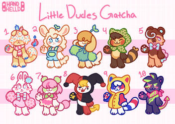 Lil Dudes Adopts - 2/10 open