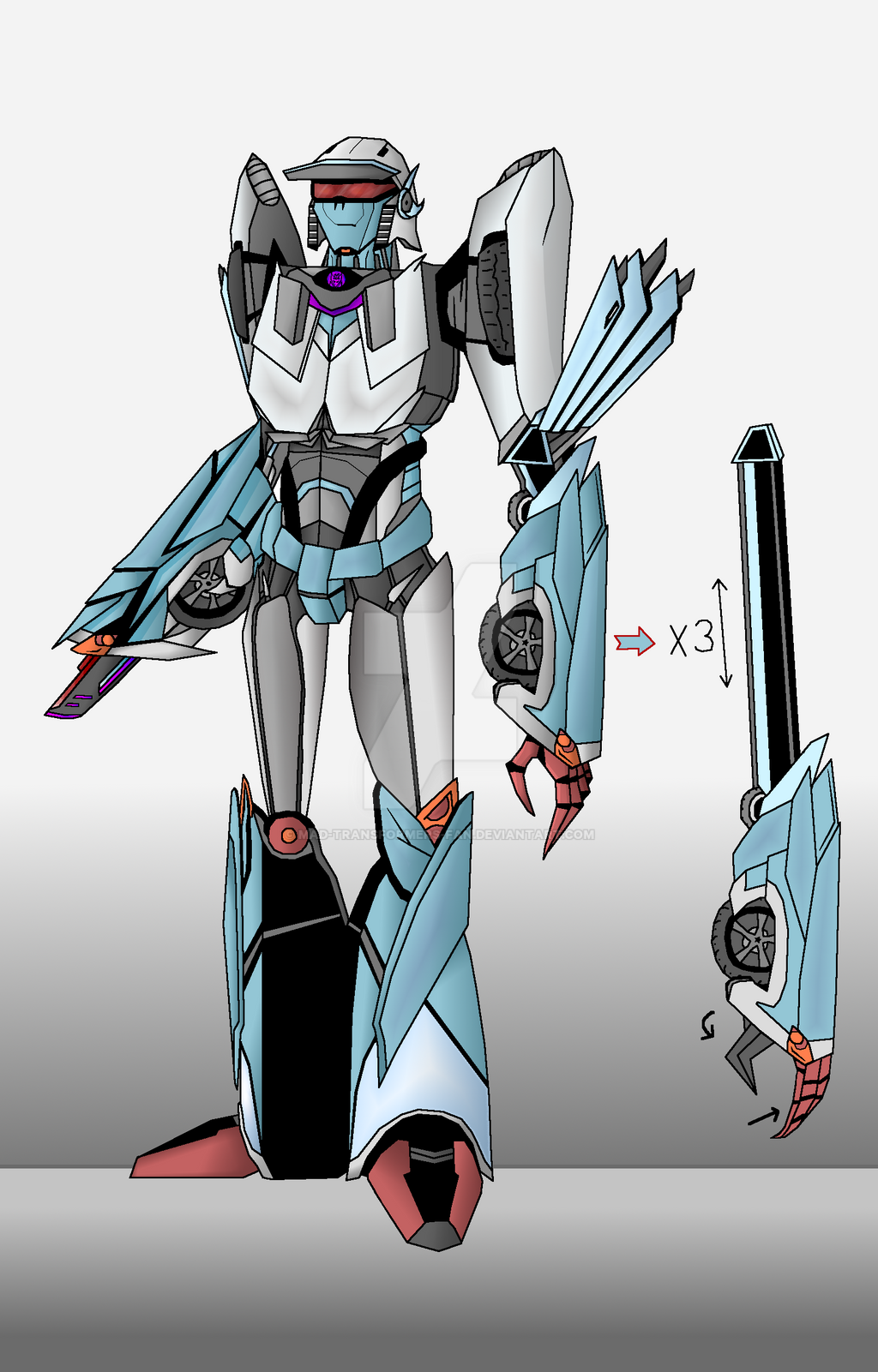 My OC Eux TF:Prime Style by Mad-Transformers-Fan